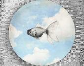 goldfish sky melamine plate