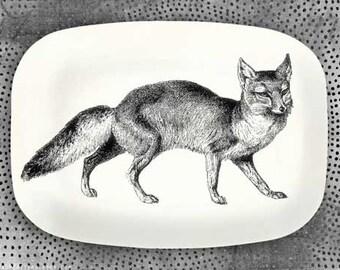 Fox melamine serving platter