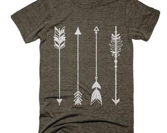 Arrow Shirt - Mens Shirt - Vintage - Art - Screen Print - Vintage Tees - Soft - Unique - Under 20