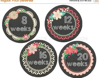 Sale Pregnancy Stickers Belly Stickers Chalkboard Maternity Stickers Baby Bump Stickers Weekly Belly Stickers Expectant Moms Photo Props