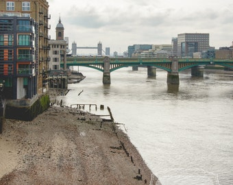 Thames Photograph. London England Photography. River Thames. Tower Bridge. Architectural Photography. Fine Art Photography