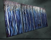 """Modern Original Metal Wall Art Modern Abstract Special Painting Sculpture Indoor Outdoor Decor """"Fresh air"""" by Ning"""