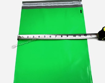 20 Pack NEW -12x15.5  ~Green Poly Mailers, Flat Poly Mailing Shipping Bags, Poly Mailer Shipping Envelope Plastic Shipping Bags
