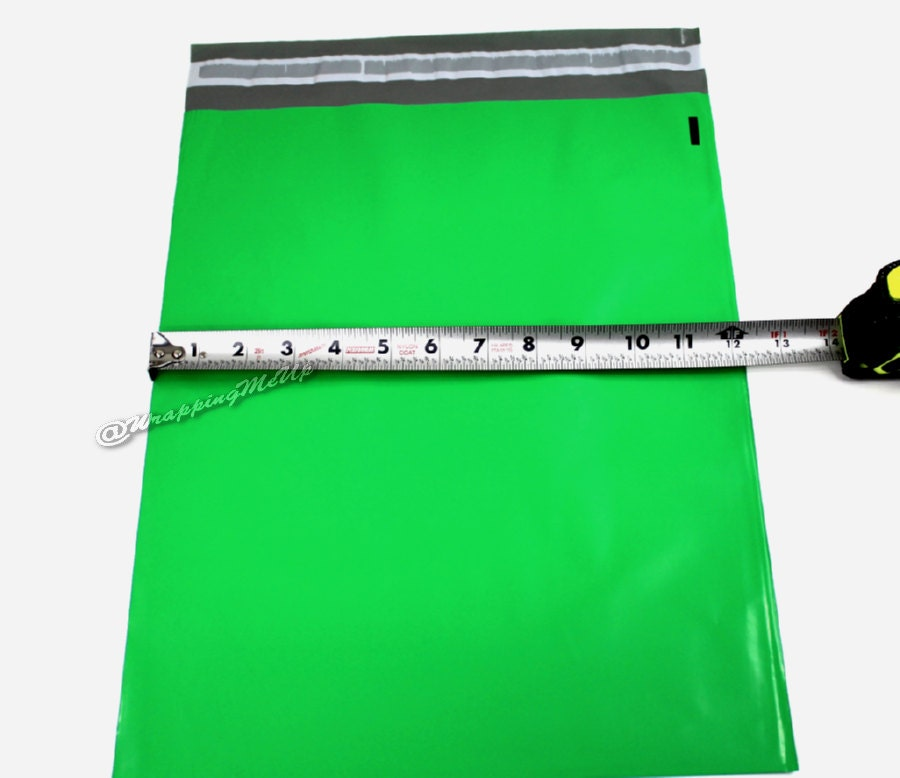 20 pack new 12x15 5 green poly mailers flat poly for 12x15 calculator