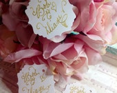 Custom Wedding Calligraphy Tags ~ Thank You Favor Tags ~ Name Tags ~ Place Cards ~ Escort Cards ~ Curvy Font ~ Handwritten ~ Affordable