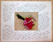 Custom Wedding Calligraphy ~ Matted Vows ~ Poems ~ Messages of Love ~ Custom Mat Size and Color ~ Handwritten ~ Affordable