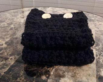 Button up crochet boot cuffs