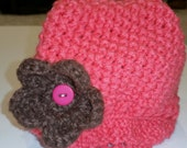 Newborn Girl Cloche Cap