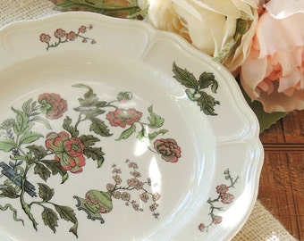 Wedgwood Mandarin Salad Plate, Queens Shape, Barlaston, Tea Party, Cottage Chic, Dessert Plate, Table Setting, Vintage Replacement China