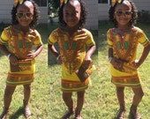 Dashiki dress and bow