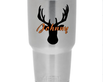 Personalized Deer Decal for Yeti Tumbler Cup