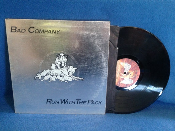"Vintage, Bad Company - ""Run With The Pack"", Vinyl LP, Record Album, Classic Rock, 1976 Swan Song, Original First Press, Simple Man"