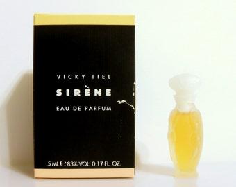 Vintage 1990s Sirene by Vicky Tiel 0.17 oz Eau de Parfum Miniature Mini PERFUME