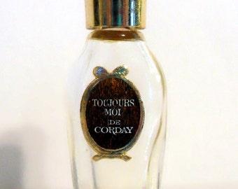 Vintage 1950s Toujours Moi by Corday Parfum Tiny Micro Mini Miniature PERFUME