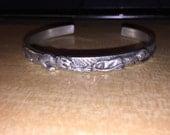 Large Solid Pewter Bracelet