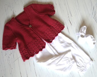 Ruby Red Bolero / Short Crop Top - P083