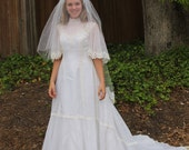 Vintage 70s William Cahill Wedding Gown Dress