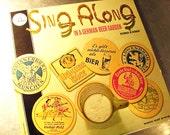 Vintage Vinyl Album Record German BEER GARDEN Sing  Along