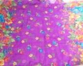 Stunning Soft & Silkie Scarf-Purple Floral-SC255