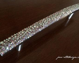 Swarovski Crystal Bling Drawer Cabinet Pull
