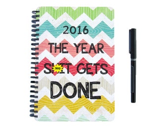Planner 2016 2017 - The Year Sh it Gets Done - Chevron Monthly Daily Student Agenda Weekly College Motivational Mature