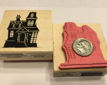 Large Haunted House rubber stamp, 45 mm (BB7)