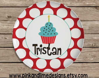 Personalized Melamine Plate, Monogrammed Plate, Birthday Gift, Easter, Christmas Gift, Baby Shower, Birthday Plate