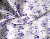 vintage floral fabric vintage fabric antique fabric purple roses fabric french fabric patchwork quilting 172