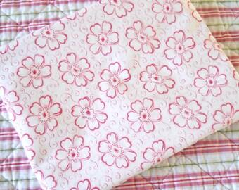antique french pillow sham pillow case vintage pillow cover vintage bedding red floral pillow case