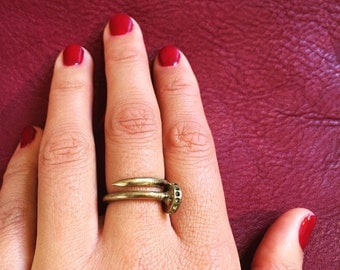 Brass Gold Nail and Screw Ring