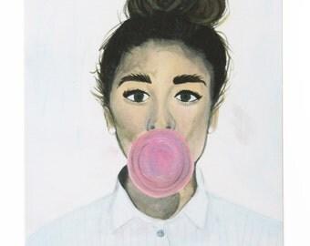 Bubble Girl Print