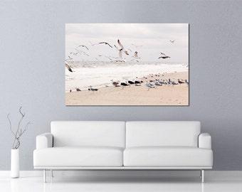 Beach Decor Shore Photograph Sea Gulls November Beach Coastal Nautical seaside seascape down the shore coastal photography