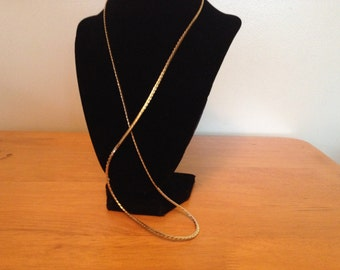 Vintage NAPIER Goldtone Design Necklace, Length 28''