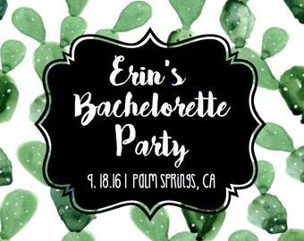 Cactus Bachelorette Party Label