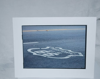 photo card, Route 66 sign, California