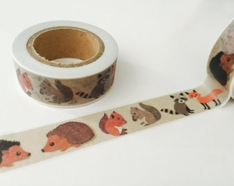 Forest Critters Washi Tape