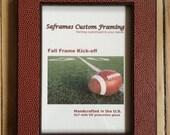 Football Photo Frame/ Wood and Football Fabric Photo Frame