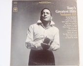 "Tony Bennett - Tony's Greatest Hits Volume III - ""I Left My Heart in San Francisco"" - Columbia Records 1965 - Vintage Vinyl LP Record Album"