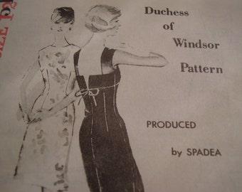 Vintage 1960's Spadea 51 Duchess of Windsor Dress Sewing Pattern, Size 12, Bust 35