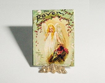 Miniature Dollhouse Book - The RAVEN Poem - Edgar Allan Poe, Harold Copping - Raphael Tuck and Sons, One Inch 1/12 Scale Dollhouse Accessory
