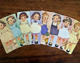 Cute Vintage Children Bookmarks - Set of 8 (Set 2)