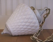 1950's Ceiling Lamp Fixture and Globe, Lamp, Fixture, Globe, 1950's, 1960's, Quilted Globe, Frosted Globe, White, Pendant, Light