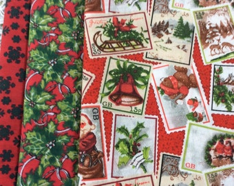 Bundle of christmas fabrics  - 3 xmas fabrics now reduced!