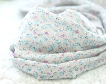 """Flower Cotton Double Gauze Fabric - Pink - 58"""" Wide - By the Yard 82907"""