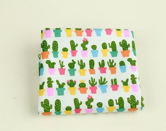 Cactus Cotton Fabric - Digital Printing - Fabric By the Yard 88442
