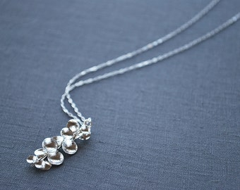 Silver Disc Pendant//Contemporary Jewelry//Recycled//Handmade by Carla Pennie McBride