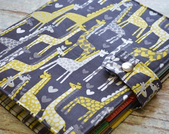 Planner Cover - In Michael Miller Giraffe Fabric - f2