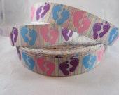 """Preemie awareness, Awareness Ribbon, Preemie Awareness ribbon, 7/8"""" Ribbon, Grosgrain Ribbon, NICU, Pink  and blue awareness ribbon, RN14750"""