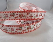 "Red Heart Valentine's Day Ribbon, Love 1"" ribbon by the yard, RN14680"