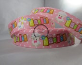 Pink Easter Grosgrain Ribbon by the Yard 7/8 Inch RN15307